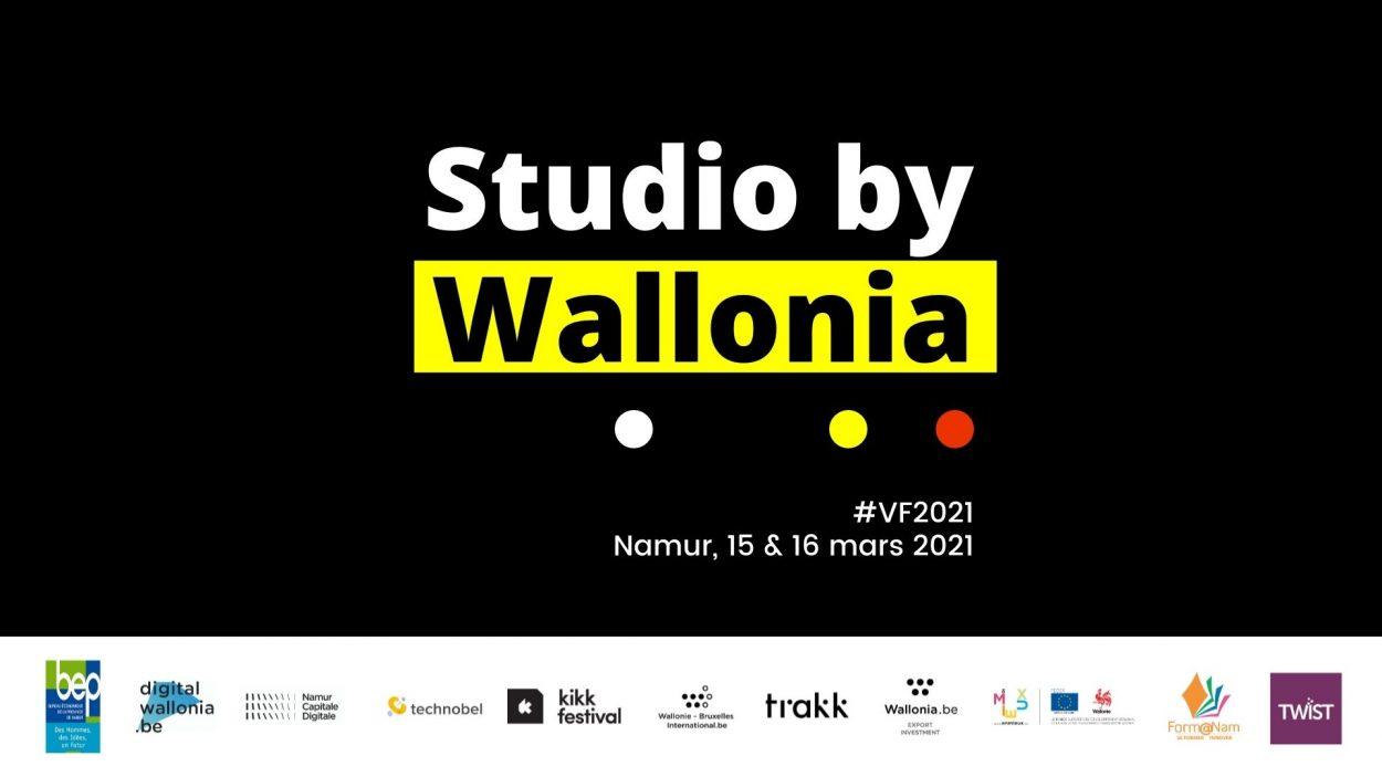 Studio by Wallonia avec logos de partenaires